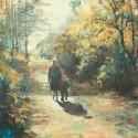 Spacer, z cyklu Okruchy wspomnień, olej, akryl, płótno, 70 x 90 cm, 2013