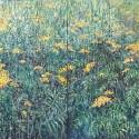Wrotycz, olej, akryl, płótno, 100 x 260 cm, 2019