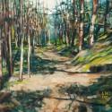 Prześwity 4, 51 x 60 cm, akryl, olej, płótno, 2013